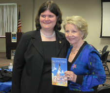 Meehan with June Scobee-Rodgers