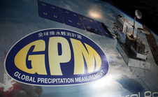 GPM logo and artist concept of satellite
