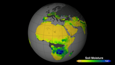 soil moisture map of Africa
