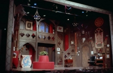 "The set from the show ""Something's Afoot."""