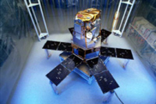The SORCE satellite prior to its launch in January 2003.