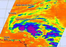AIRS image of Tropical Depression 7