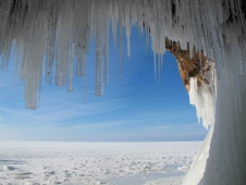 In early February 2014, writer Craig Childs looked out at the frozen Lake Superior from the Apostle Island Coast.