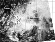 Aqua image of System 94 W in the NW Pacific
