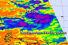 AIRS image of 10W