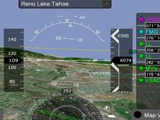 Synthetic vision enhances pilots' situational awareness—even in poor visibility conditions—by providing a graphical display of the terrain outside the cockpit, as in this TerraBlocks-enabled example.
