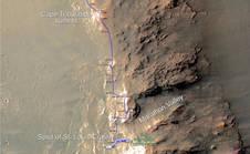 NASA Mars Rover Opportunity marathon map