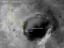 Full map of NASA Mars Rover Opportunity's marathon