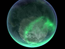 Aurora over the south pole as seen by NASA's IMAGE.