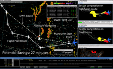 Screen shot of dynamic weather routes.
