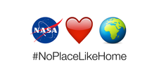 NoPlaceLikeHome Emojis: NASA λογότυπο, καρδιά, Γη