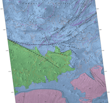 Geological mapping of hills in martian canyon