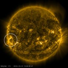 SDO image showing solar active region