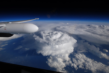 storm clouds viewed from NASA's ER-2