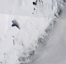 Totten Glacier ice shelf in East Antarctica