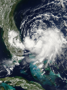 Tropical Depression 1 off coast of Florida on 30 Jun 2014