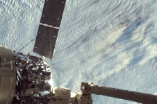 Sally Ride EarthKAM captures Orbital Cygnus undocking from space station.
