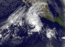 NOAA's GOES-West satellite captured an image of Hurricane Vance