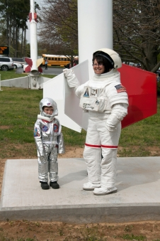 Fun astronaut dress up at a Visitor Center event.