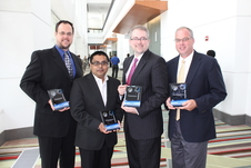 Recipients of the Most Compelling Results from the ISS in 2013 award (left to right): Carl Carruthers, Jr.; Nabarun Chakraborty; Jeffrey Hastings; and Matthew Lynch.