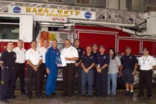 NASA WSTF Emergency Services Personnel and NASA Astronaut Danny Olivas.