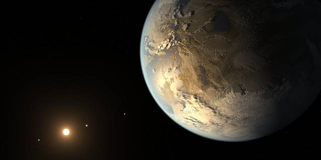 illustration of Kepler-186f, the first Earth-size planet discovered within a star's habitable zone
