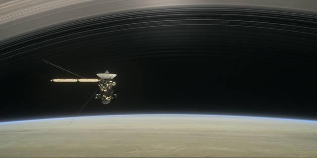 Artist's rendering of Cassini