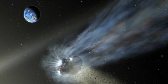 Artist's depiction of Comet C/2012 K1 (also called Pan-STARRS) and its coma during its first approach into the solar system.