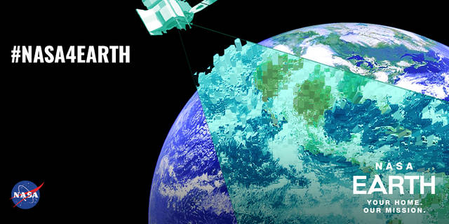 NASA Earth Day 2018 shareable with the hashtag #NASA4Earth