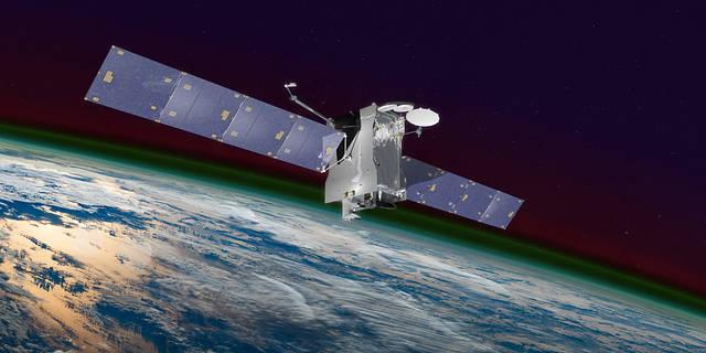 illustration of satellite hosting GOLD instrument