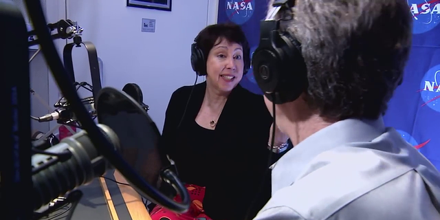 Project Scientist Nicky Fox of the Johns Hopkins University Applied Physics Lab is interviewed at NASA Headquarters