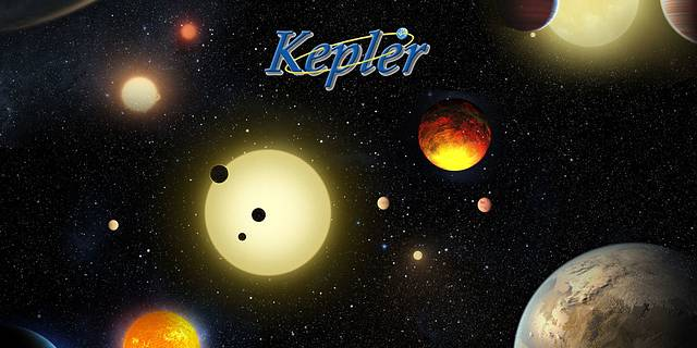 This illustration depicts a sample of the many planets discovered by NASA's Kepler space telescope.