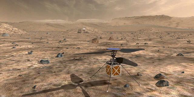 NASA's Mars Helicopter, a small, autonomous rotorcraft, will travel with the agency's Mars 2020 rover