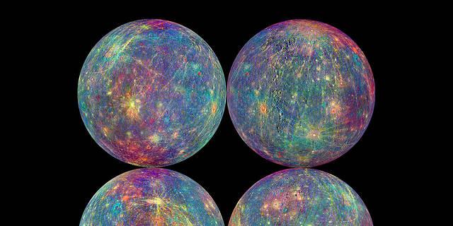 four images of Mercury