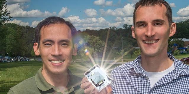 Deputy Principal Investigator Albert Shih (left) and Principal Investigator Steven Christe