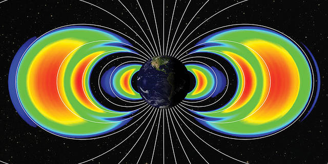 depiction of Earth's Van Allen Belts