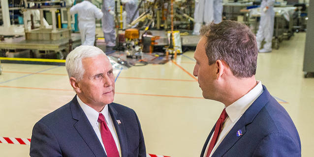 Vice President Mike Pence visits the Lockheed Martin facility
