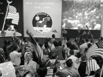 Mission Control Celebrates Success of Apollo 11