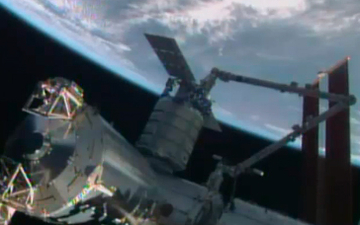 Cygnus mdoulet dokket til ISS
