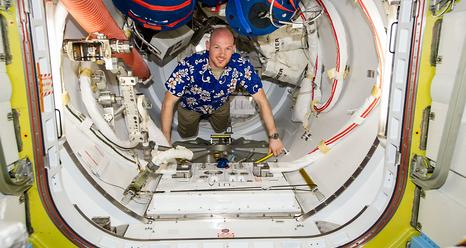 El astronauta de la ESA Alexander Gerst