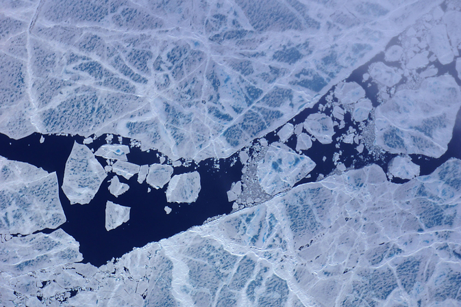 fractured sea ice