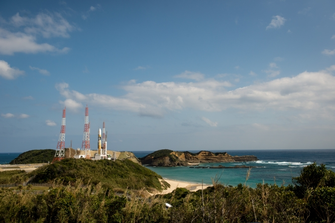 GPM's Japanese H-IIA rocket on the launch pad