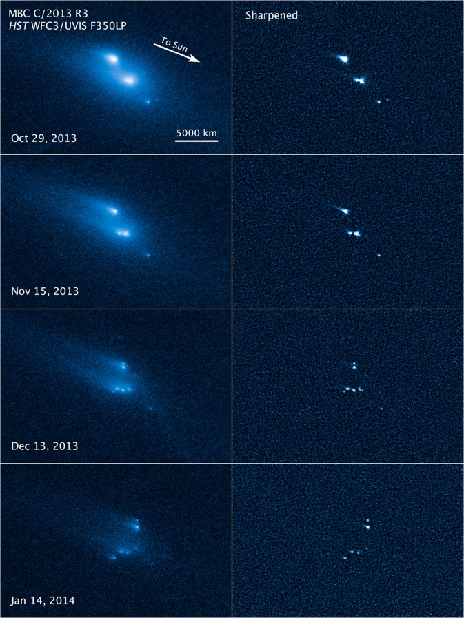Hubble catches asteroid disintegrating