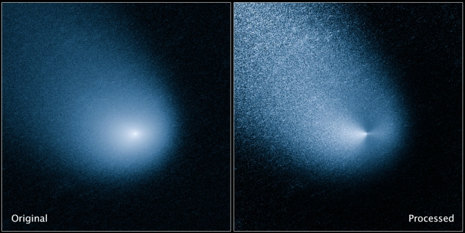 Comet C/2013 A1 as seen by NASA's Hubble Space Telescope