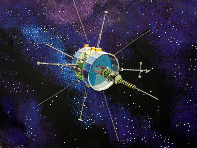 Artist's concept image of ISEE-3 (ICE) spacecraft.