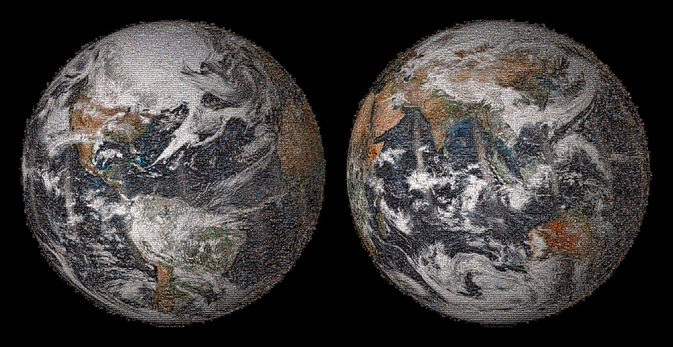 "NASA's ""Global Selfie"" Earth mosaic"