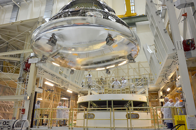 Orion crew module for Exploration Flight Test-1