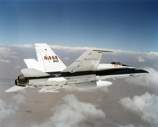 NASA F/A-18 mission support aircraft