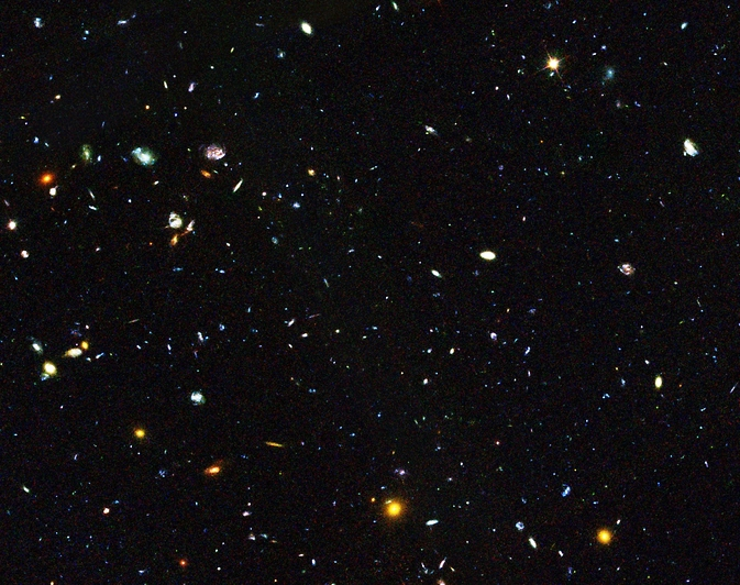 Hiding among these thousands of galaxies are faint dwarf galaxies residing in the early universe, between 2 and 6 billion years after the big bang, an important time period when most of the stars in the universe were formed. Some of these galaxies are undergoing starbursts.