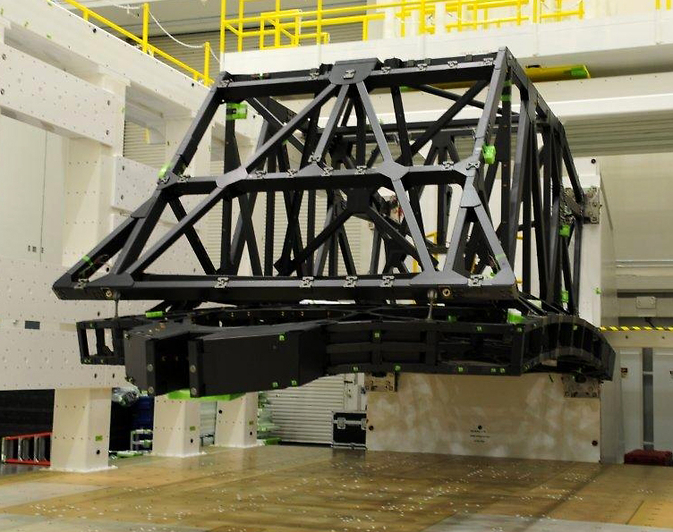Backplane of NASA's James Webb Space Telescope